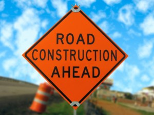 Focus 81 construction sign